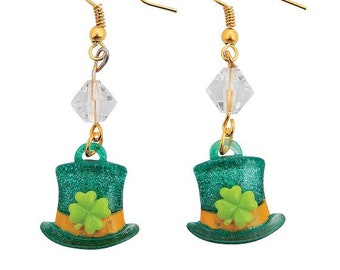 Leprechaun Top Hat Earrings