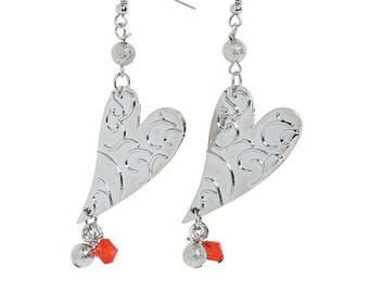 Valentine Dangle Heart Earrings