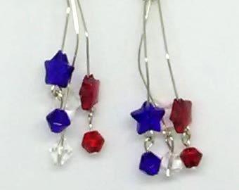 Patriotic Stars Earrings