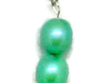 Blue/Green Round Ovals Pendant Necklace