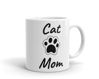Cat Mom Pet Lovers Mug