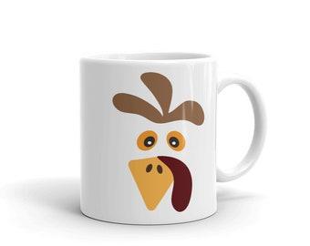 Funny Turkey Face Mug