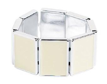 White Rectangle Bracelet