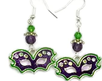 Mardi Gras Mask Earrings