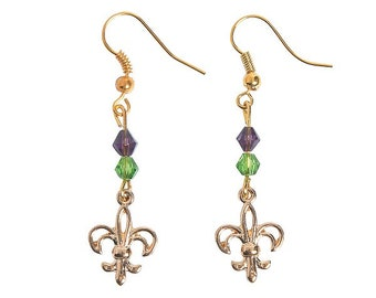 Fleur De Lis Wire Earrings
