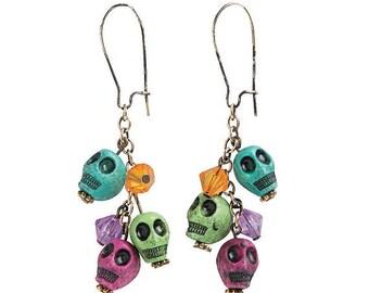 Day of the Dead Dangling Earrings
