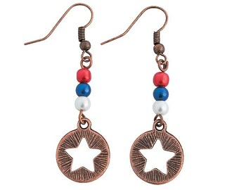 Vintage Patriotic Earrings