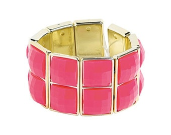 Two Square Pink Bracelet by Homestead Crafter