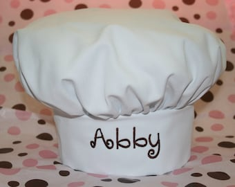 848230df30a Youth and Adult Chef Hat-- Custom Embroidered -- Several colors to choose  from