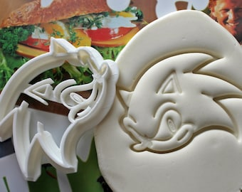 Sonic The Hedgehog Cookie Cutter / Made From Biodegradable Material / Brand New / Party Favor / Kids Birthday / Baby Shower / Cake Topper