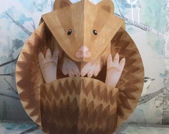 3D Pop-up Hedgehog Greeting Card