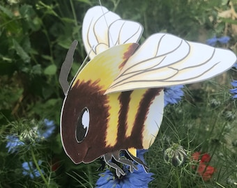 Hanging 3D Bumblebee Greetings Card or Mobile