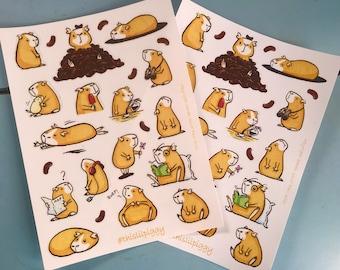 This Lil Piggy A5 Guinea Pig Sticker Sheet