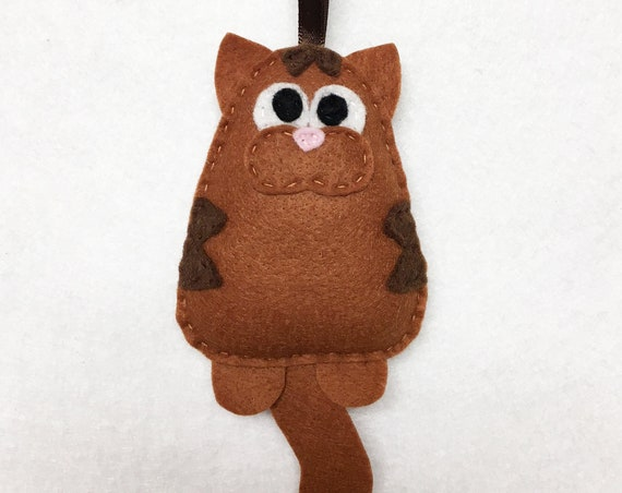 Cat Ornament, Christmas Ornament, Tabby Ornaments,  Lennon the Cat, Brown Tabby, Cat Lover Gift, Pet Lovers