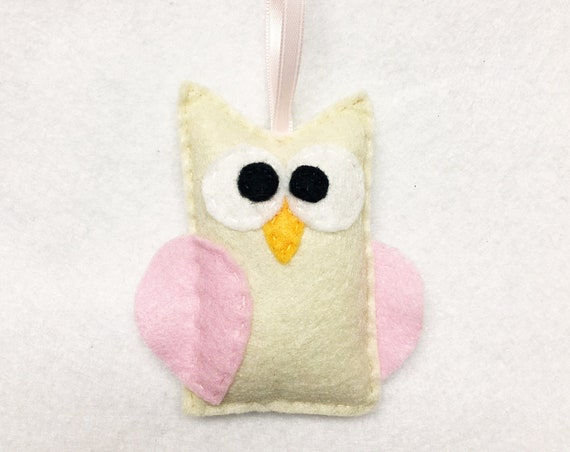 Owl Ornament, Christmas Ornament, Ornament, Betty the Owl, Teacher Gifts, Woodland Animal, Farmhouse, Gifts under 10