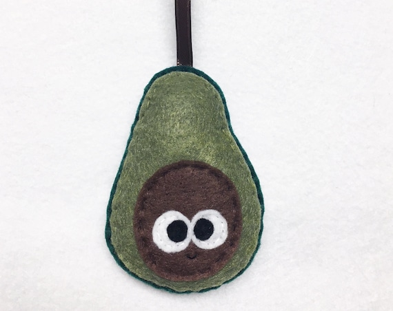 Avocado Ornament, Christmas Ornament, Ansel the Avocado, Felt avocado, Super Food, Summer, Foodie Gift, Clean Eating, Plush Avocado