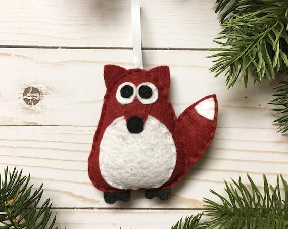 Fox Ornament, Ornament, Christmas Ornament, Rupert the Brick Red Fox