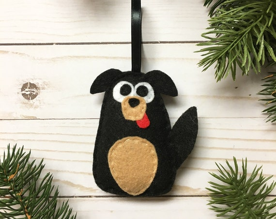 Dog Ornament, Puppy Christmas Ornament, Frank the Dog