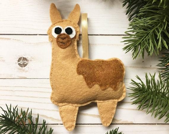 Llama ornament, Christmas ornament - Leonard the Llama - Made to Order