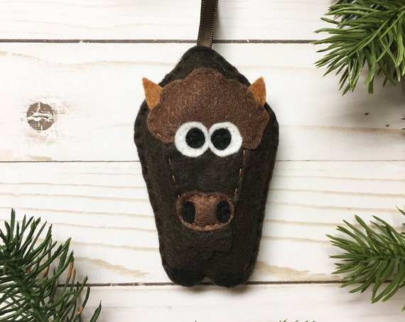 Buffalo Ornament, Christmas Ornament, Bill the Buffalo