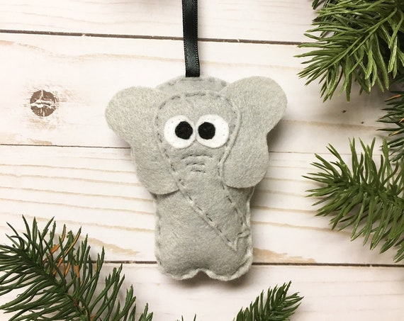 Elephant Ornament, Christmas Ornament, Eleanor the Elephant