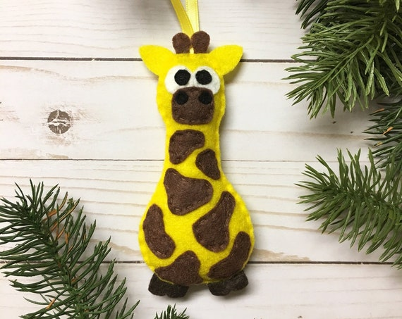 Giraffe Ornament, Christmas Ornament, Gertie the Giraffe