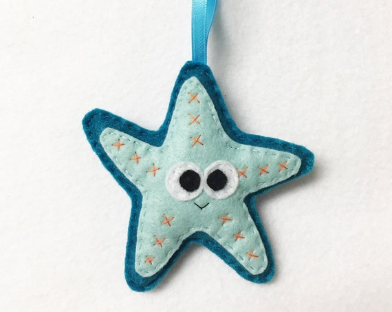 Starfish Ornament, Christmas Ornament, Stacy the Starfish