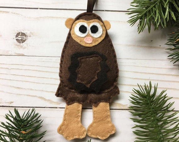 Sasquatch Bigfoot Ornament, Christmas Ornament, Harold the Sasquatch