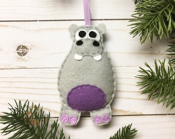 Hippo Ornament, Christmas Ornament, Harriet the Hippo