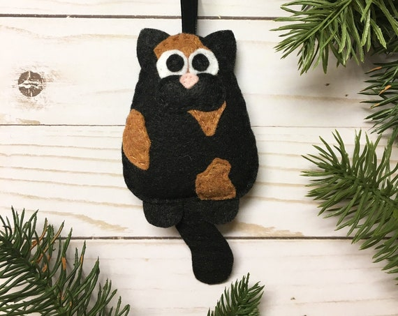 Cat Ornament, Christmas Ornament, Tortoiseshell Cat, Winifred the Cat
