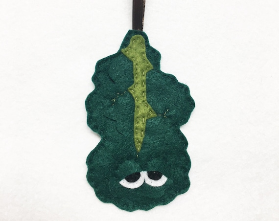 Kale Ornament, Christmas Ornament, Karen the Kale, Felt Kale, Super Food, Foodie Gift, Clean Eating, Gag Gift for Coworker