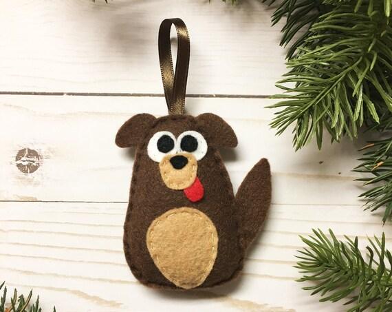 Dog Ornament, Puppy Christmas Ornament, Cullen the Mutt