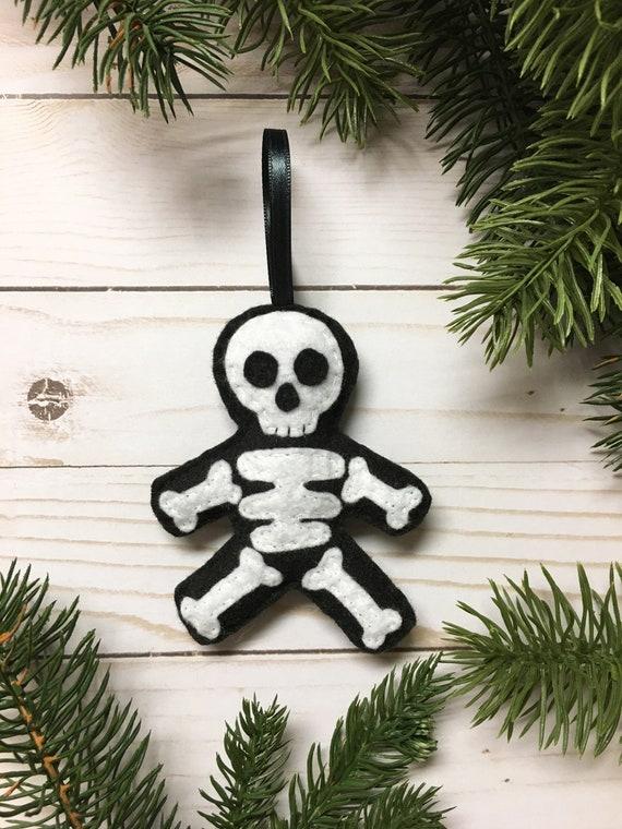 Skeleton Ornament, Halloween Ornament, Christmas Ornament, Sam the Skeleton