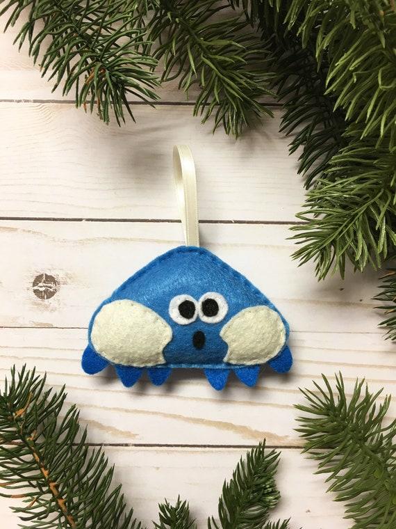 Crab Ornament, Christmas Ornament, Ethan the Blue Crab