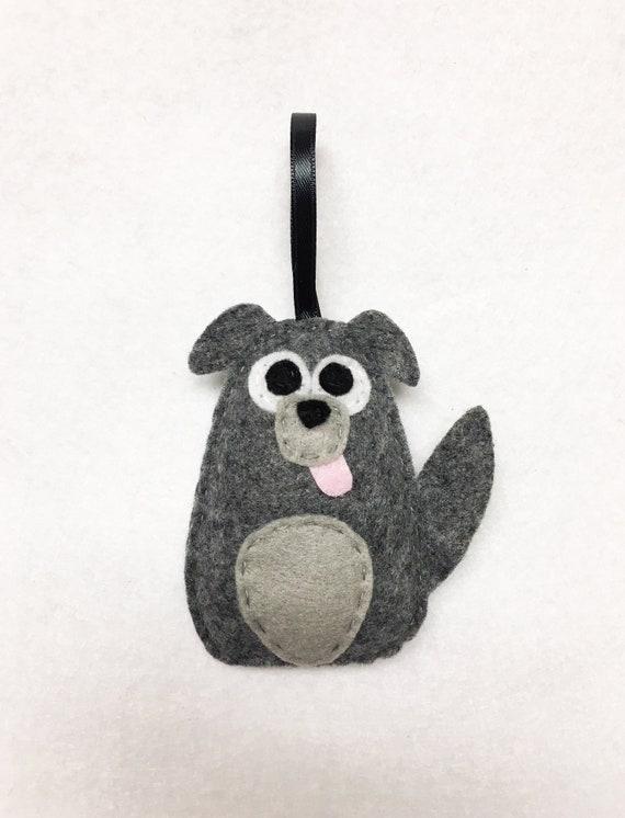 Dog Ornament, Puppy Christmas Ornament, Diesel the Mutt, Felt Ornament, Felt Animal, Holiday Decoration