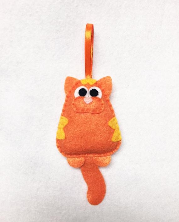 Cat Ornament, Christmas Ornament, Tabby Ornaments,  Lady Frumpysforth the Third the Cat, Orange Cat