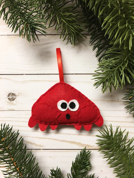 Crab Ornament, Christmas Ornament, Harris the Crab