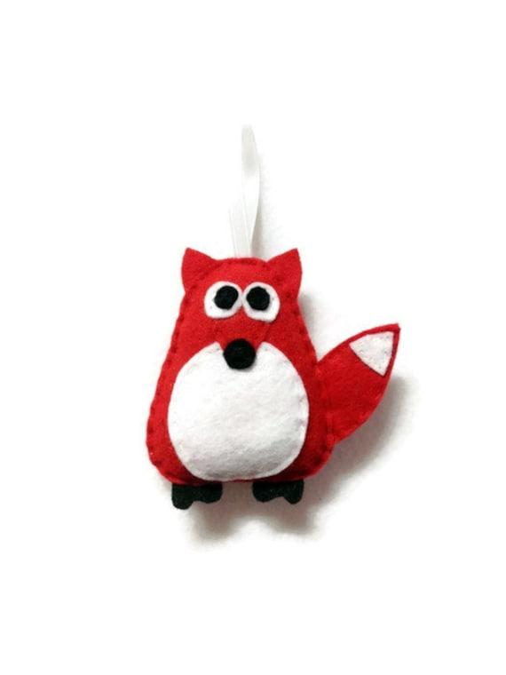 Fox Ornament, Red Fox, Christmas Ornament, Felt Holiday Ornament, Felt Animal, Andy the Red Fox, Secret Santa Gift