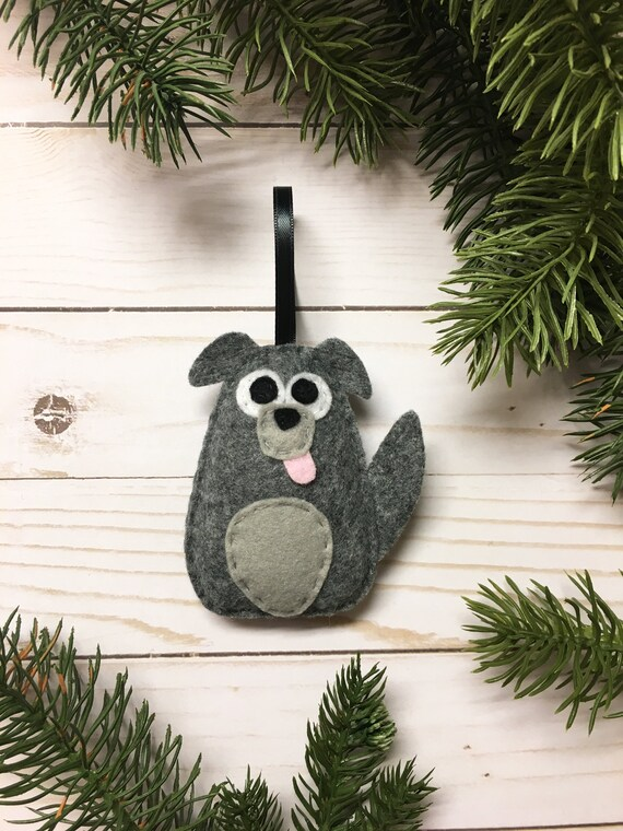 Dog Ornament, Puppy Christmas Ornament, Diesel the Mutt