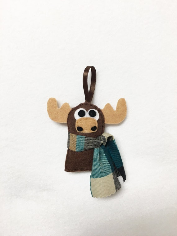 Moose Ornament, Christmas Ornament, Felt Ornament, Ned the Moose