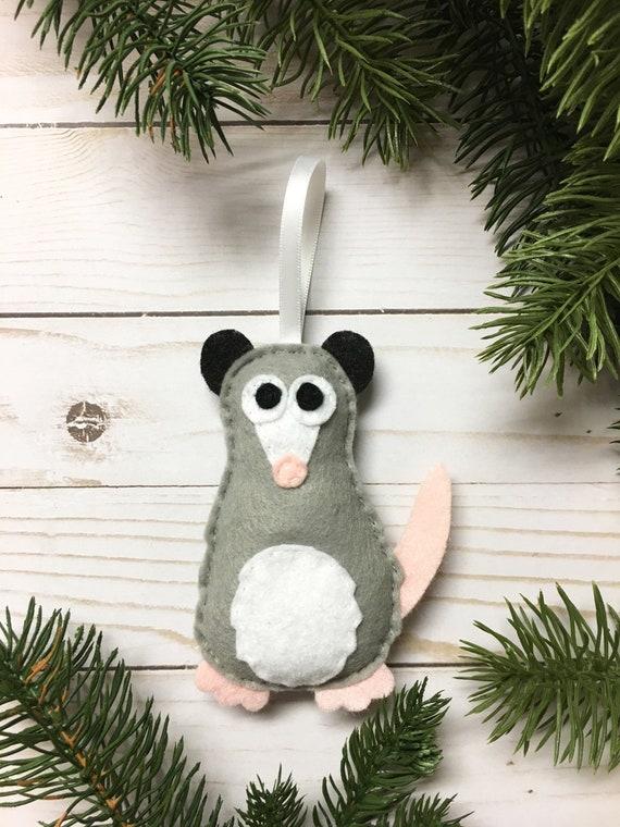 Opossum Ornament, Christmas Ornament, Patience the Possum