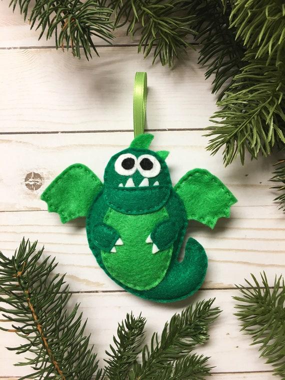 Dragon Ornament, Christmas Ornament, Andromeda the Dragon - Made to Order