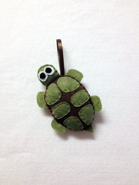 Turtle Ornament, Felt Christmas Ornament, Bellini the Turtle - Made to Order