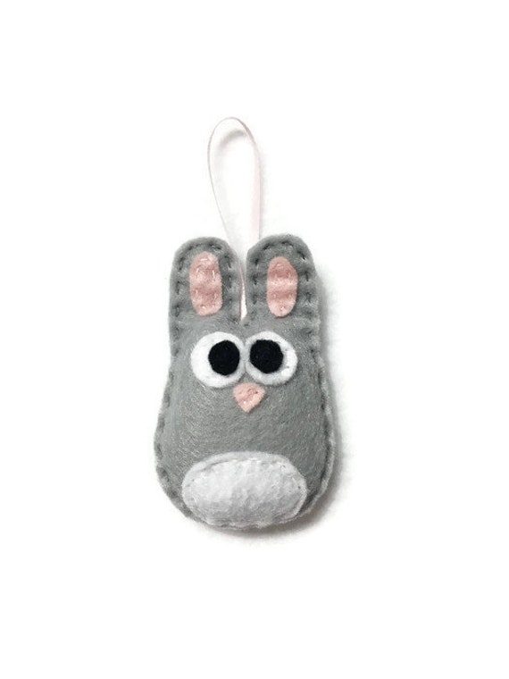 Rabbit Ornament, Baby Bunny, Rick the Baby Bunny, Christmas Ornament, Easter, Baby Shower Decoration, Babys First Ornament