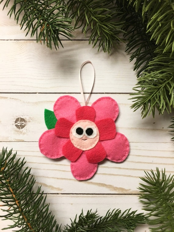 Flower Ornament, Christmas Ornament, Rose the Flower