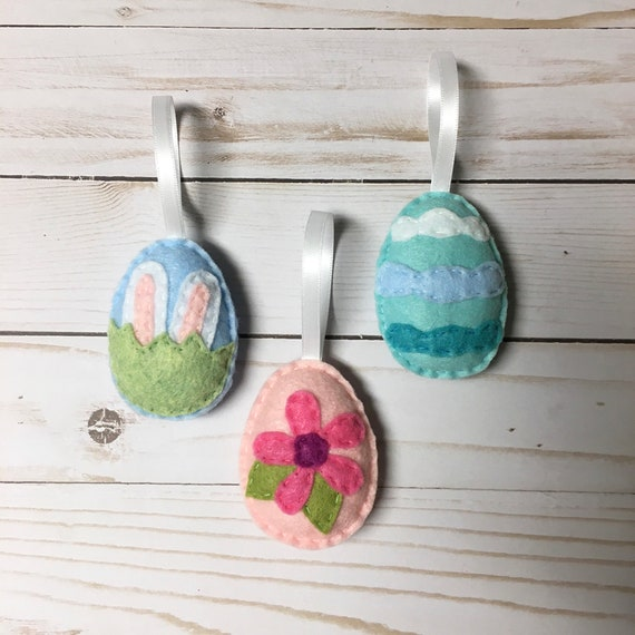 Easter Egg Ornament Set of 3, Spring Ornament