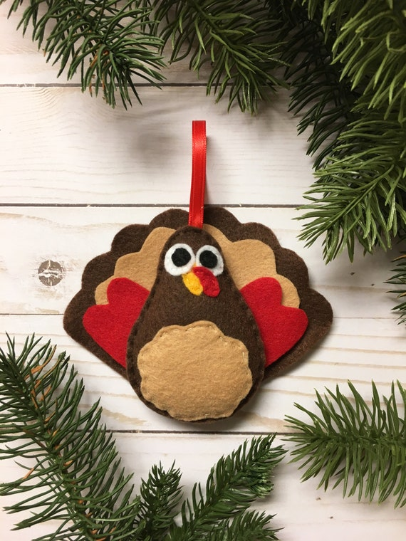 Turkey ornament, Thanksgiving and Christmas Ornament, Jake the Turkey