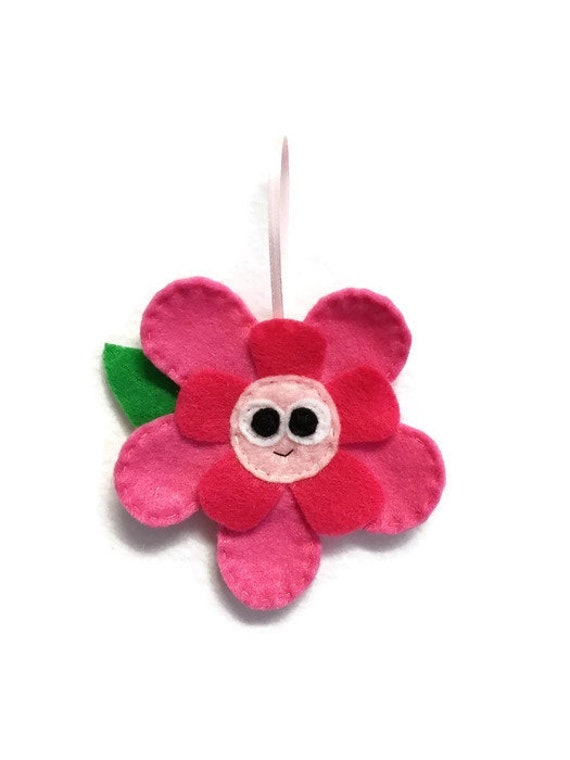 Flower Ornament, Plant, Christmas Ornament, Rose the Flower, Felt Animals, Gift Topper, Spring Decoration