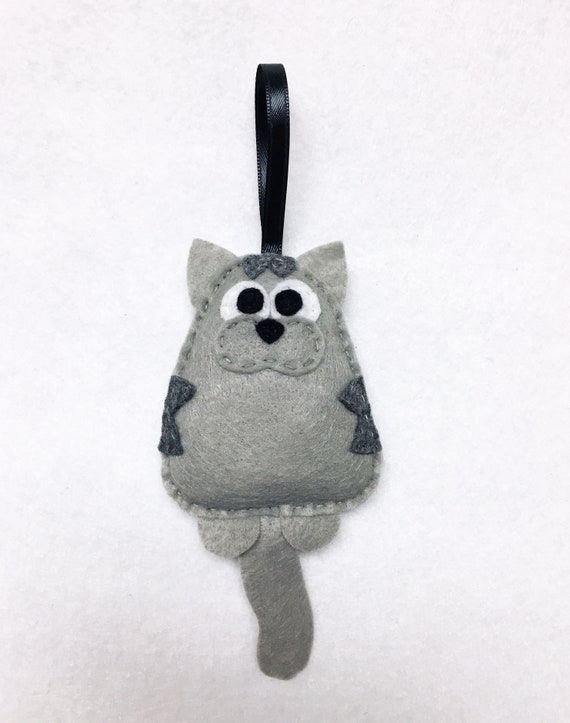 Cat Ornament, Christmas Ornament, Tabby Ornaments,  Mavis the Cat, Gray Tabby, Russian Blue, Cat Lover Gift, Pet Lovers