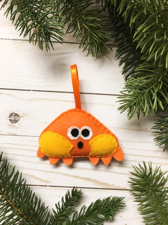 Crab Ornament, Christmas Ornament, Sandy the Crab